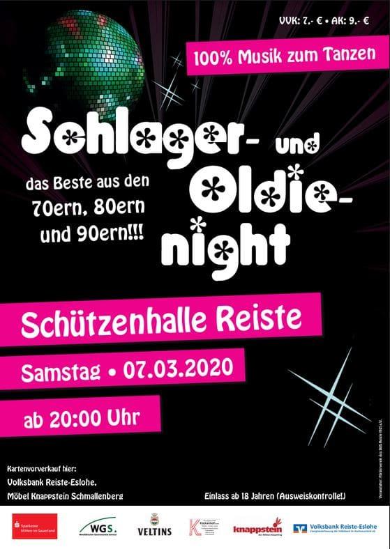 Schlager & Oldie Night in Reiste