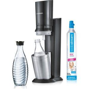 Sodastream CRYSTAL 2.0 Tital Angebot + 2x Glaskaraffe + CO2-Zylinder