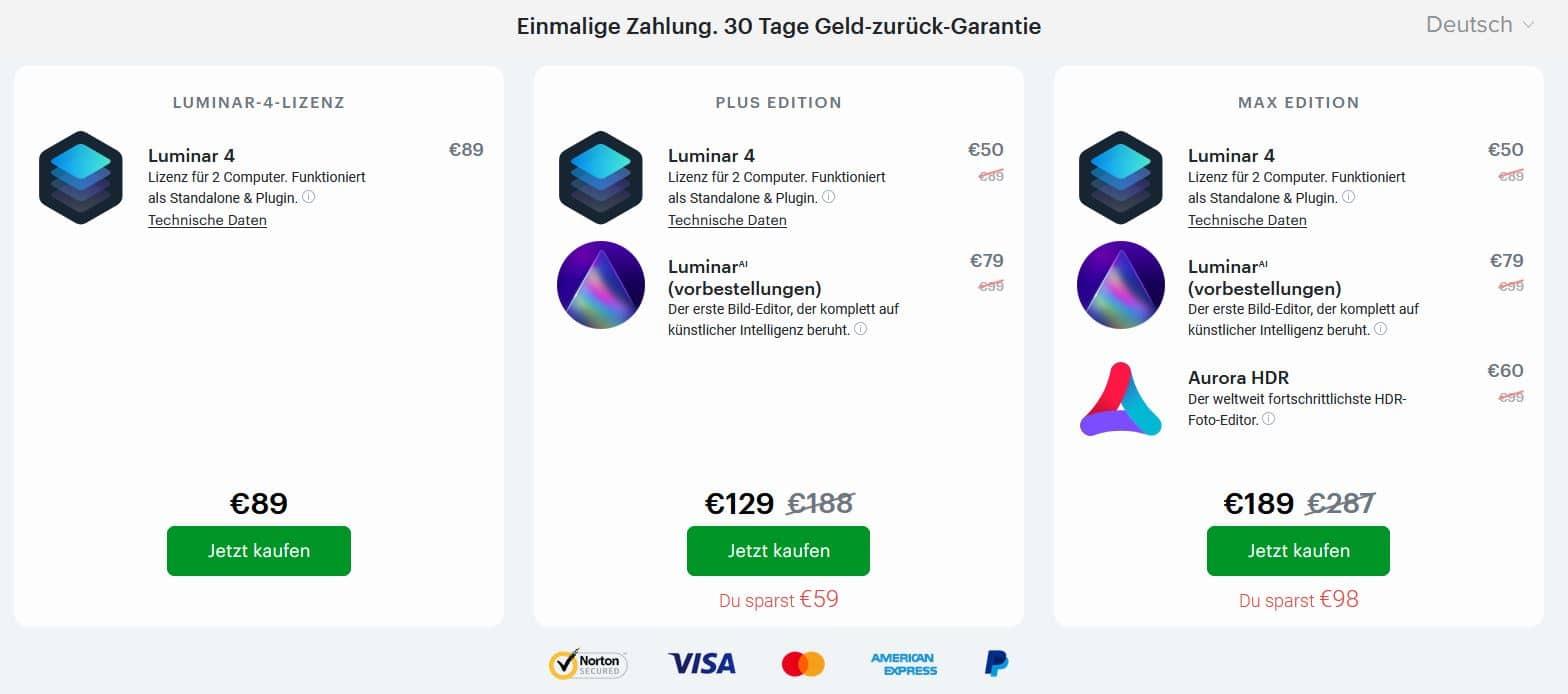Das neue Luminar AI günstig kaufen